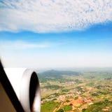 Vista aérea a gran altitud de China rural Fotos de archivo libres de regalías