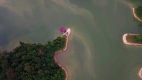 Vista aérea hermosa de Belum real Malasia metrajes