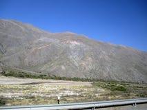 Vista aérea hermosa de montañas en las montañas de Salta la Argentina Suramérica los Andes Fotos de archivo libres de regalías