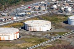 Vista aérea industrial Fotografia de Stock Royalty Free