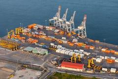 Vista aérea industrial Fotos de Stock Royalty Free
