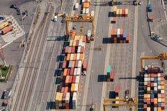 Vista aérea industrial Imagem de Stock