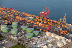 Vista aérea industrial Foto de Stock Royalty Free
