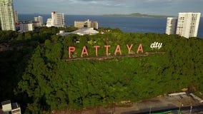 vista aérea 4K de la muestra de la ciudad de Pattaya