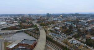 Vista aérea, Knoxville, Tennessee, EUA 4k do centro filme