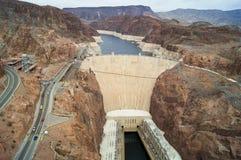 Vista aérea a la Presa Hoover, los E.E.U.U. foto de archivo