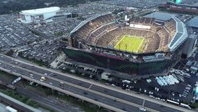 Vista aérea Lincoln Financial Field Philadelphia video estoque