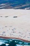 Vista aérea lindo de dunas de Oceano em Califórnia Fotografia de Stock Royalty Free