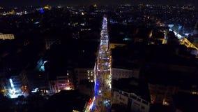 Vista aérea a los edificios modernos en la ciudad de Estambul, Turquía almacen de video