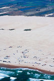 Vista aérea magnífica de las dunas de Oceano en California fotografía de archivo libre de regalías
