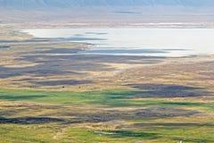 Vista aérea na área da conservação de Ngorongoro fotos de stock