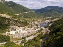 Vista aérea na central eléctrica Fotografia de Stock Royalty Free