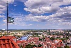 Vista aérea na cidade velha de Gdansk, Polônia Imagem de Stock Royalty Free