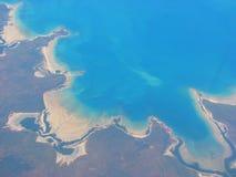 Vista aérea na costa oeste de Austrália imagens de stock royalty free
