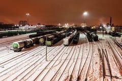 Vista aérea na estação de trem Fotos de Stock Royalty Free