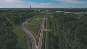 Vista aérea na estrada filme