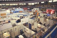 Vista aérea na feira de livro internacional 3 de Belgrado foto de stock