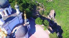 Vista aérea na igreja da ressurreição do ` s de Cristo video estoque