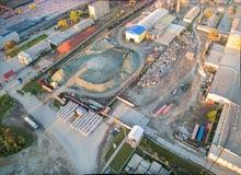 Vista aérea na planta de JSC Tyumennerud Rússia Foto de Stock