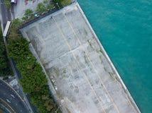 Vista aérea no cais de Instagram imagem de stock