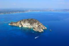 Vista aérea no console de Zakynthos Imagens de Stock