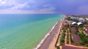 Vista aérea no litoral crimeano vídeos de arquivo
