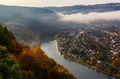 Vista aérea no Moselle, Alemanha imagem de stock royalty free
