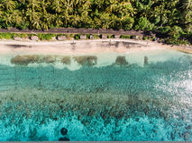 Vista aérea no oceano e nas rochas Foto de Stock Royalty Free