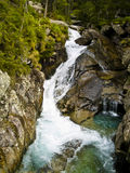 Vista aérea no ribeiro da montanha Imagens de Stock Royalty Free