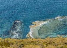 Vista aérea Oceano Atlântico Chubut Argentina foto de stock