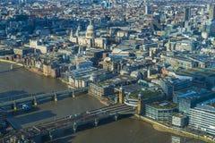 Vista aérea panorámica de la ciudad de Londres Fotografía de archivo libre de regalías