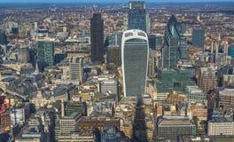 Vista aérea panorámica de Londres Fotos de archivo