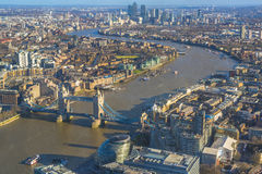 Vista aérea panorámica de Londres Imagen de archivo
