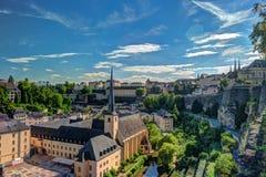 Vista aérea panorámica de Luxemburgo Fotos de archivo