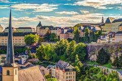 Vista aérea panorámica de Luxemburgo Fotografía de archivo libre de regalías