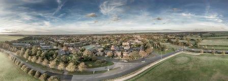 Vista aérea panorámica de Newmarket Foto de archivo