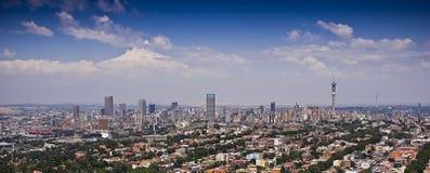Vista aérea panorâmico de Jozi CBD Imagem de Stock Royalty Free