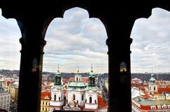 Vista aérea panorâmico de Praga do castelo de Praga, República Checa Foto de Stock Royalty Free