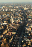 Vista aérea Railway Foto de Stock