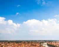 Vista aérea região de Verona, Itália, Vêneto Bandeja ensolarada bonita Fotografia de Stock Royalty Free