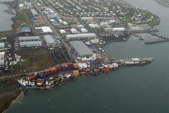 Vista aérea a Reykjavik Fotografía de archivo libre de regalías