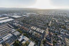 Vista aérea Sherman Way em Los Angeles fotografia de stock
