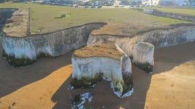 Vista aérea sobre a baía da Botânica em Kent fotos de stock