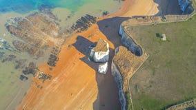 Vista aérea sobre a baía da Botânica em Kent fotografia de stock royalty free