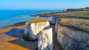 Vista aérea sobre a baía da Botânica em Kent foto de stock royalty free