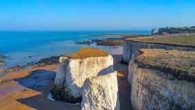 Vista aérea sobre a baía da Botânica em Kent imagem de stock royalty free