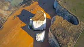 Vista aérea sobre a baía da Botânica em Kent fotografia de stock