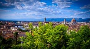 Vista aérea sobre a cidade histórica de Florença Fotografia de Stock Royalty Free