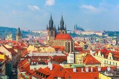 Vista aérea sobre a cidade velha em Praga, República Checa Imagem de Stock
