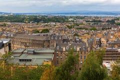 Vista aérea sobre Edimburgo, Escócia, Reino Unido Fotografia de Stock Royalty Free